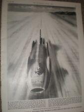 Donald Campbell Bluebird breaks land speed record James Neave print 1964 rf AY