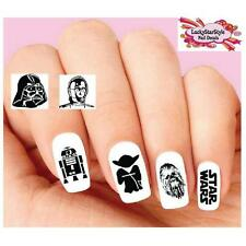 Waterslide Nail Decals Art Set of 20 - Star Wars Silhouette Assorted