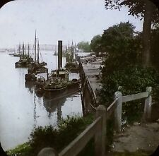 Along the River River IJssel, Zutphen, Holland, Magic Lantern Glass Photo Slide