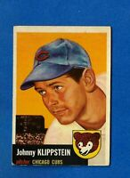 1953 Topps Baseball # 46 JOHNNY KLIPPSTEIN EX/EX-MT CHICAGO CUBS