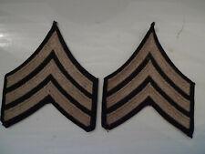 WW2 US ARMY GI 2 GRADES DE MANCHE SERGEANT MATERIEL ORIGINAL