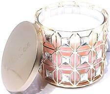 Bath & Body Works Gold Tone Geometric Gem 3 Wick Candle Holder
