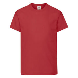 Kids Plain T-Shirt - Fruit of the Loom Original Children's Tee - FREE DELIVERY