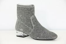 Nine West Boots Womens Fashion Booties Silver Stretch Retro sz 7 NEW 60s Party