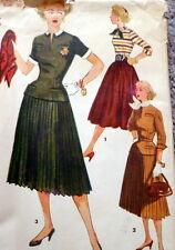 LOVELY VTG 1950s BLOUSE & SKIRT Sewing Pattern 12/30