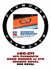 QG-271 1971 PLYMOUTH - ROAD RUNNER or GTX - HEADER PANEL DECAL  for sale