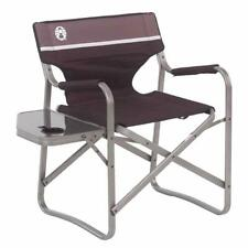 Coleman Portable Deck Chair With Side Table Camping Furniture Hiking Outdoor