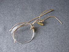 Antique gold filled decorated temples eyeglasses frame Marked Metalvista