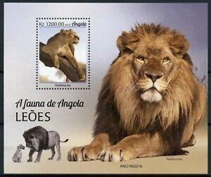 Angola Wild Animals Stamps 2019 MNH Lions Lion Big Cats Fauna 1v M/S