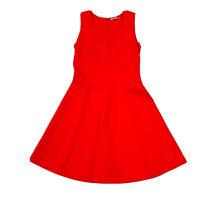 Trenery Women's Red A-Line Dress Size Medium Stretch
