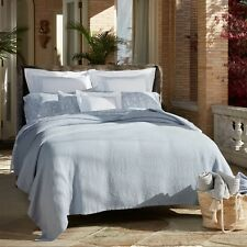 Matouk Costa King Coverlet 112 X 97   Wedgwood
