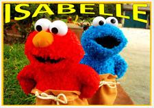 Elmo e Cookie per bambini A4 laminato TABLE PLACE MAT/Free corrispondenti Coaster