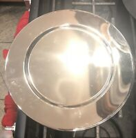 12 in. Round Silver Colored Charger Plates *Set of 6* Used Condition - AS IS