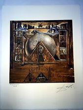 Salvador Dali Litografia 50 x 65 Bfk Rives Timbro a secco Firmata a Matita D163