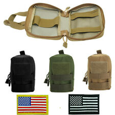 3xDog Detachable Pouch Side Bag+2xUS Flag Patch for Working Harness Training K9