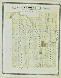 1876 Atlas St. Joseph & Laporte County Indiana Illustrated Baskin and Foster