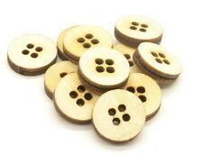 Botones De Madera 2 cm de ancho x 3.2 mm Grueso,Tamaño Grande Aproximadamente 80