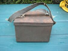 More details for ww2 gas mask c/w original cardboard box 1938 henley 8220 metal carrying case