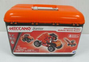 Meccano Junior Maker System Advanced Toolbox 8 Models / 88 Parts Set Age 5+ (GA)