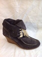 Dune Brown Ankle Suede Boots Size 41
