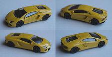 Majorette - Lamborghini Aventador gelb mit schwarzen Felgen