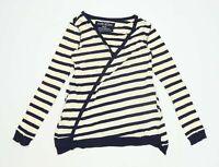 River Island Womens Size 12 Striped Cotton Multi-Coloured Cardigan (Regular)