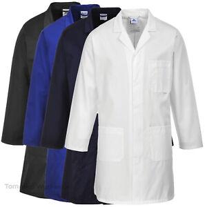 Portwest 2852 Lab Coat Durable Cotton Mix Workshop Warehouse Student Jacket