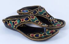 New handmade Indian women's khussa Slipper embroided rajasthani shoes