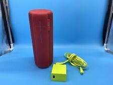 Logitech UE MEGABOOM Wireless Bluetooth Waterproof Mega Boom Speaker RED Open Bx