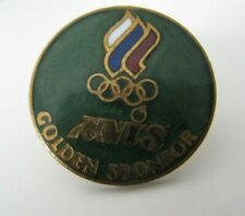 Olympic 1994 Lillehammer Russia NOC ANIS golden sponsor pin badge