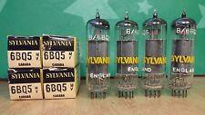 Matched Quad of Sylvania (Brimar) 6BQ5 EL84 NOS NIB Vacuum Tubes