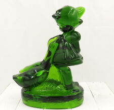 L.E. Smith for Hummel - Emerald Green Glass - Goose Girl with Geese