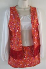 1960's Flower Child Costume (Vest and Skirt Only) by WENDY'O - M/L