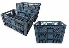 8 x Brotkiste Obst-/ Gemüsebox Lagerkiste Transportbox Gitterbox grau 15cm Höhe