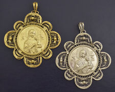 Orthodox Filigree Metal Icon Gold or Silver Plated 2 sizes Hand Made in Greece