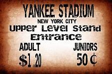 YANKEE STADIUM NEW YORK Vinatge stile metallo segno Baseball segno