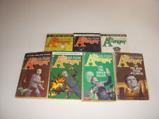 THE AVENGER, Lot of 7 Vintage Paperbacks, #3, 4, 5, 10, 13, 20, 25, ROBESON, PB!
