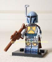 Boba Fett Holiday Special Star Wars Minifigure +Stand Mandalorian Bounty Hunter