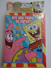 Spongebob Squarepants Birthday Invitations AND Thank you Cards