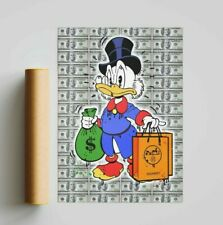 More details for scooge mcduck x hermes (poster print) alec monopoly inspired - pop wall art