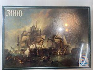 "Vintage Schmidt Jigsaw Puzzle ""Battle of Trafalgar"" Ship,War 3000 Pc Britsh Navy"
