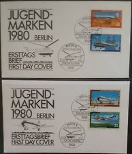 Germany Berlin 1980 Airplanes & Helicopters  FDC First Day Cover Fancy Cancel