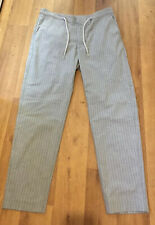 BNWT CELIO ANOBY MENS GREY STRIPE CASUAL SLIM PANTALON/ TROUSERS ~ Size Large
