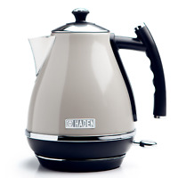 Haden Cotswold Putty Electric Jug Kettle 1.7L Cordless, Removeable Filter, 3000W