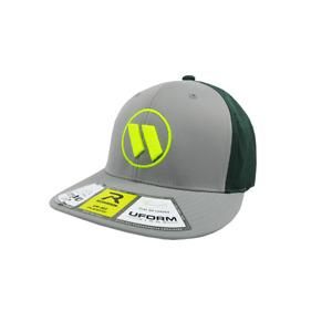 Worth Hat by Richardson (PTS30) Grey/Dark Green/Grey/Volt/Volt