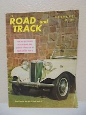Road & Track Magazine February 1953 Road Testing The MG-TD and Mark ll