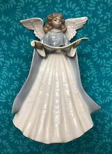 Lladro Angel figurine blue with music scroll