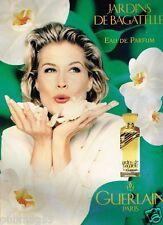 Publicité advertising 1995 Eau de Parfum Jardins de Bagatelle par Guerlain