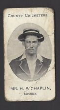 TADDY - COUNTY CRICKETERS - MR H P CHAPLIN, SUSSEX