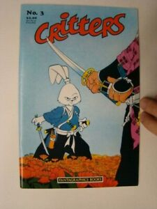1986 Critters #3 Early Usagi Yojimbo App. Stan Sakai Art Fantagraphics VF/NM